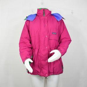 vintage Patagonia parka jacket 10 M 90's pink neon